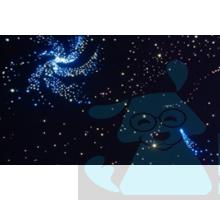 Підлоговий фіброоптичний килим «Зоряне небо»